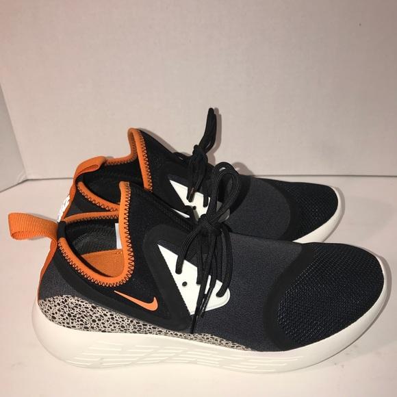 eedd78d9ecff NIKE Lunarcharge BN black white orange safari sz 9